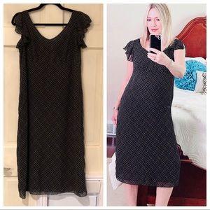 DUO MATERNITY black dress ruffled split sleeve